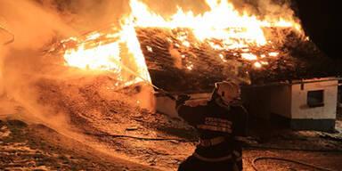 Großbrand in Stall im Murtal