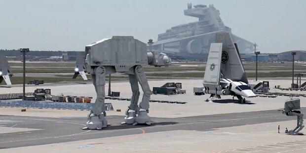 Star Wars-Raumschiffe erobern Frankfurt