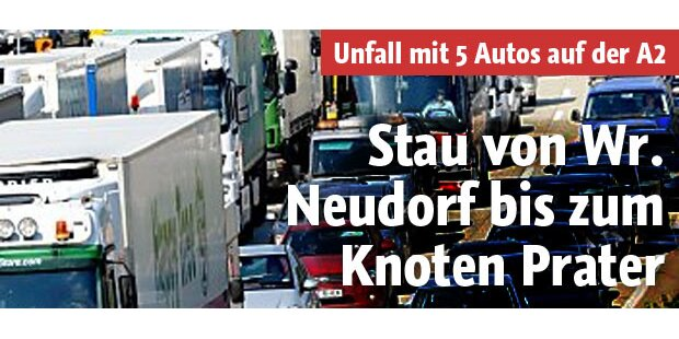 Stau von Wr. Neudorf bis Knoten Prater
