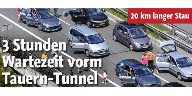 3 Stunden Wartezeit vorm Tauern-Tunnel