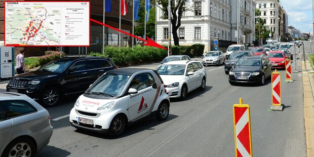 Zeitraffer-Video zeigt Staus in Wien