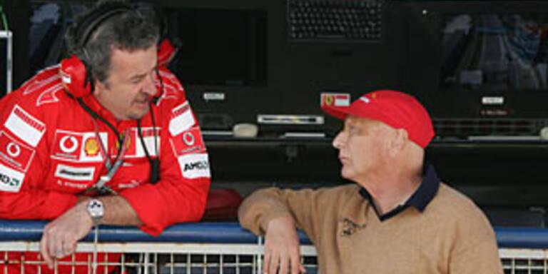 Stepney mit Niki Lauda