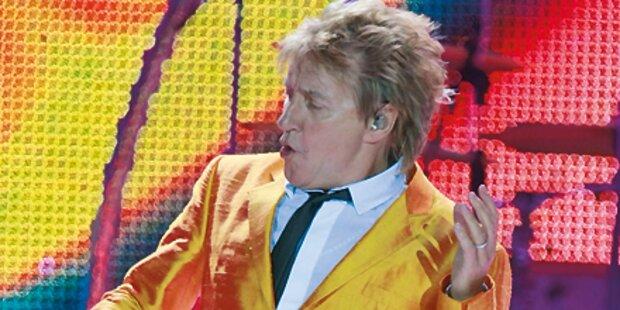 Rod Stewart kickt und rockt