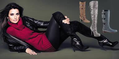 2 Herbst Stiefel Overknees Schnallen Boots