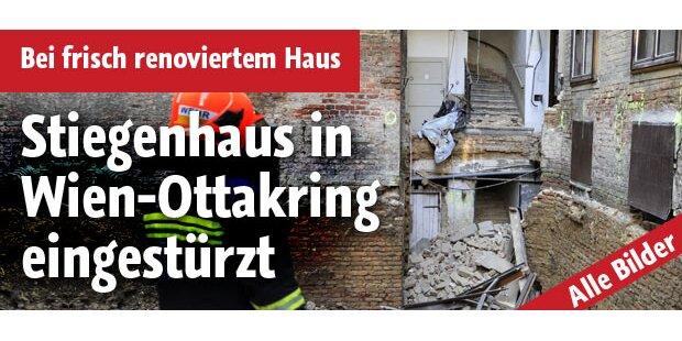 Stiege eines Wiener Wohnhauses eingestürzt