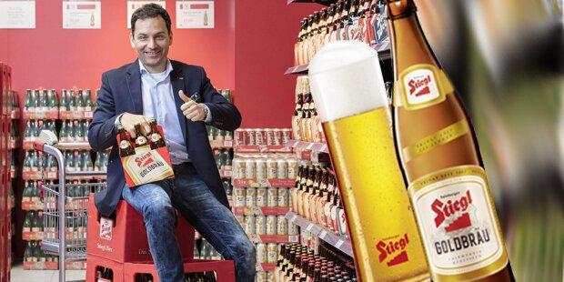 Stiegl-Bier glänzt jetzt im neuen Design