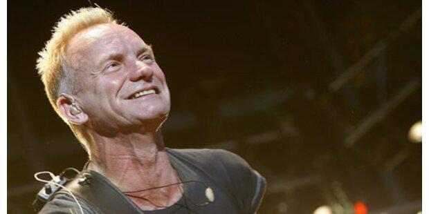 Wenn Sting auf Tour ist, tobt er sich aus