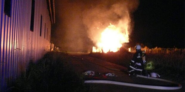 Gas-Station geht in Flammen auf