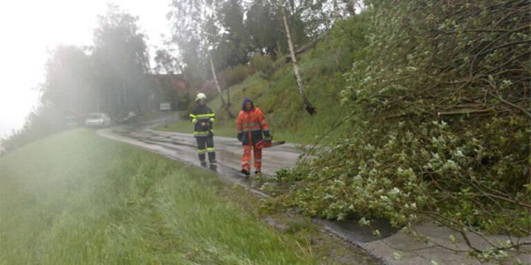 Unwetter: Entschärfung in der Steiermark