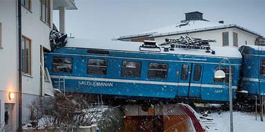 Zug-Crash in Stockholm