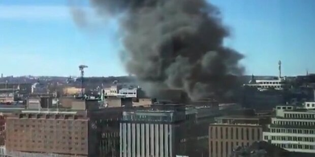 Bus in Stadtzentrum explodiert