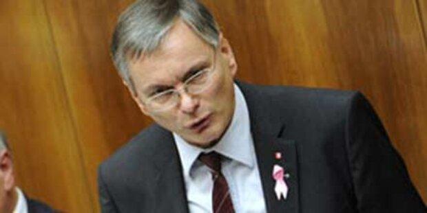 BZÖ-Misstrauensantrag gegen Stöger