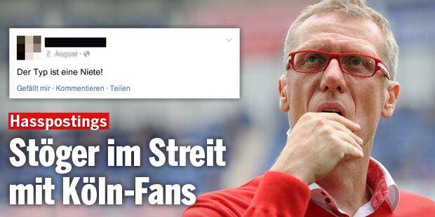 Stöger im Streit mit Köln-Fans