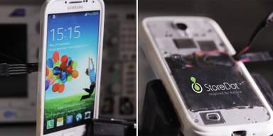 Handy-Akku lädt sich in 30 Sekunden
