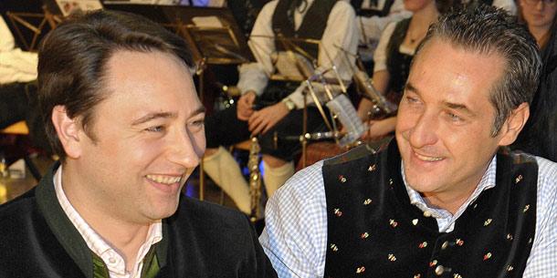 Heinz-Christian Strache und Manfred Haimbuchner
