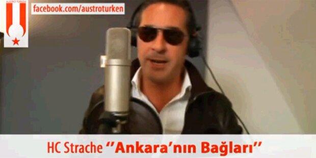 Türken klauen Strache-Rap
