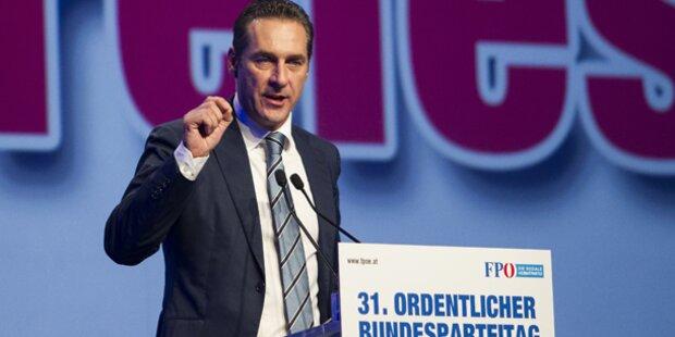 Strache mit 96,32% als FPÖ-Chef bestätigt
