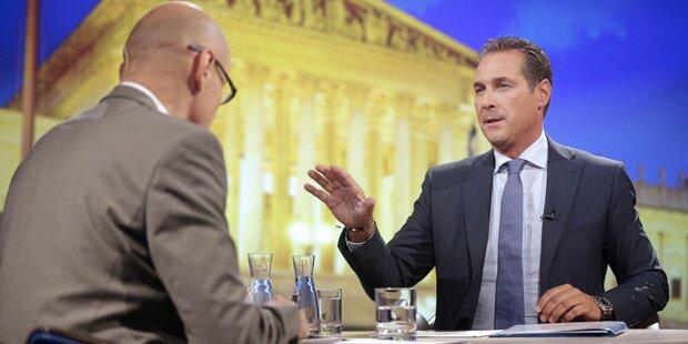 Sommergespräch: Strache fordert Neuwahlen