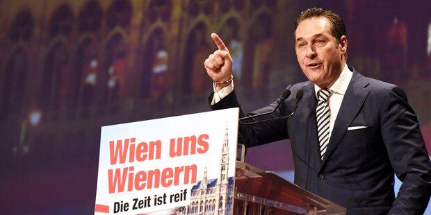Strache auf Parteitag wiedergewählt