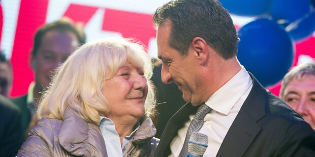 FP-Boss Strache feierte mit seiner Mama