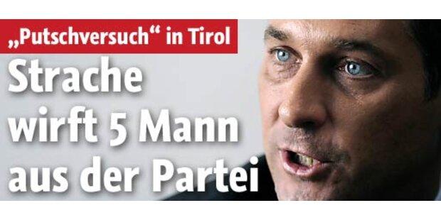 Strache schließt Tiroler Vize-Chefs aus