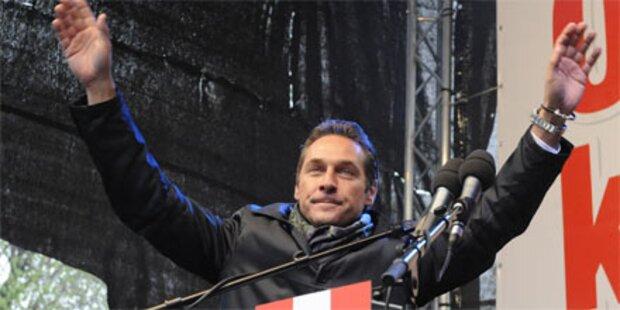 Strache bei Wahlkampfauftakt im Burgenland