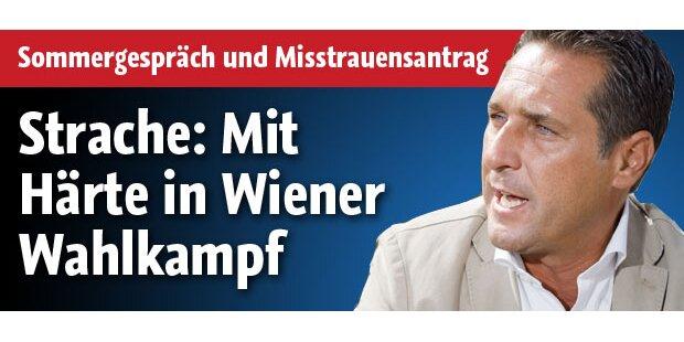 Strache mit Härte in Wiener Wahlkampf