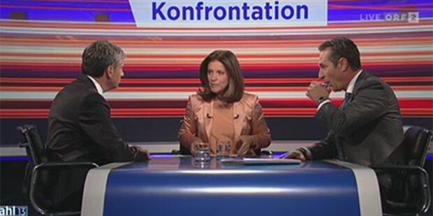 TV-Duell II: Strache gegen Spindelegger