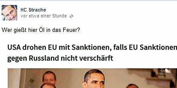 Strache blamiert sich mit Fake-Posting
