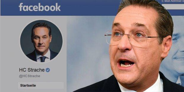 Krieg um Straches Facebook-Seite