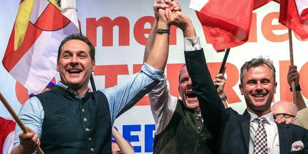 Strache schwört im Bierzelt auf Hofburg-Wahl ein