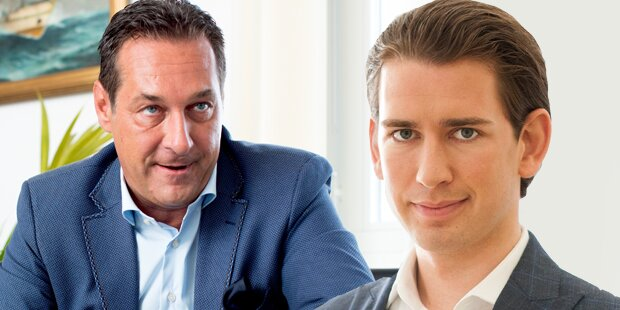 Strache spottet über Sebastian Kurz