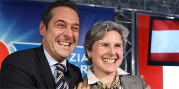 Mini-Wahlbudget für die blaue Kandidatin