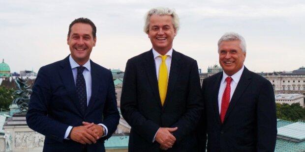 Strache lädt Wilders nach Wien ein