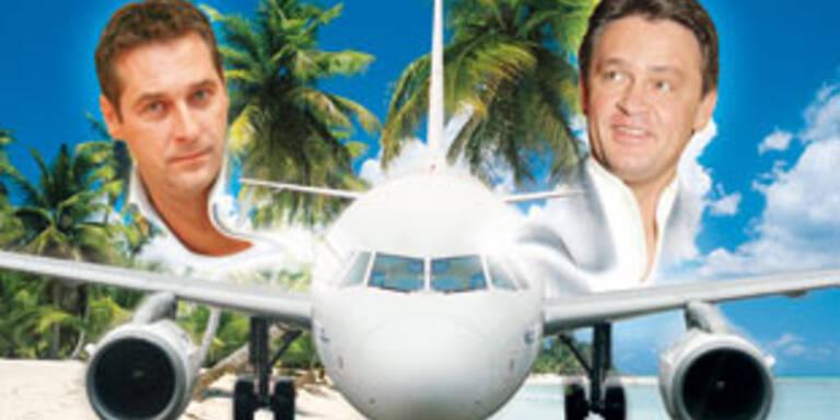 Strache saß mit Westenthaler im Urlaubsflieger