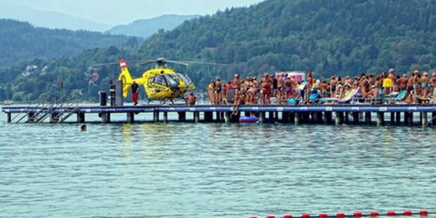 Badegäste schimpfen über Rettungs-Heli