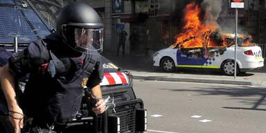 Gewalt eskaliert  in Spanien