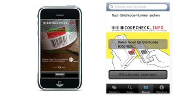 Codecheck-App für iPhone & Android-Handys