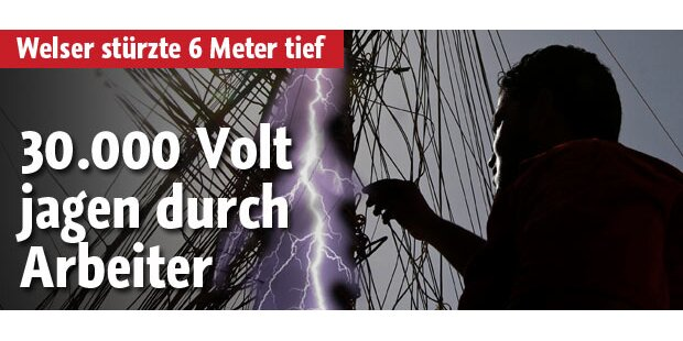 Arbeiter erlitt 30.000-Volt-Stromschlag