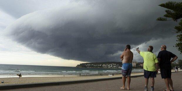 Gewaltige Gewitter-Walze über Sydney