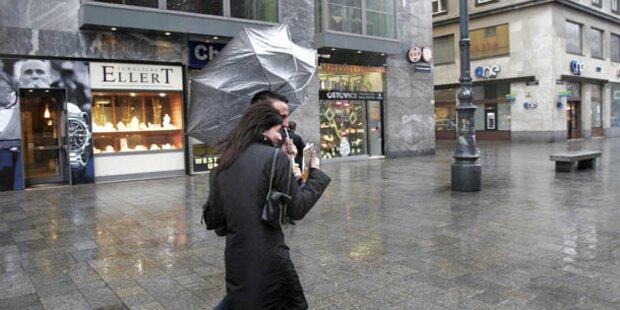 Sturmwarnung für Samstag