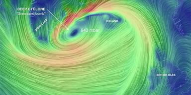 Ein Zyklon treibt auf Europa zu