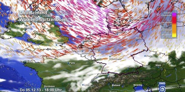 Der Sturm streift auch Salzburg