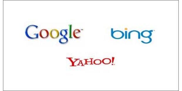Google, Bing & Yahoo! bleiben konstant