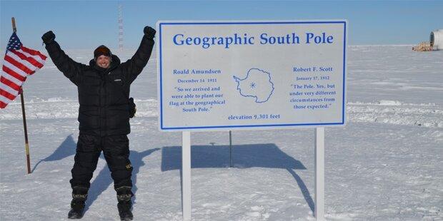 Hurra, ich bin ganz allein am Südpol