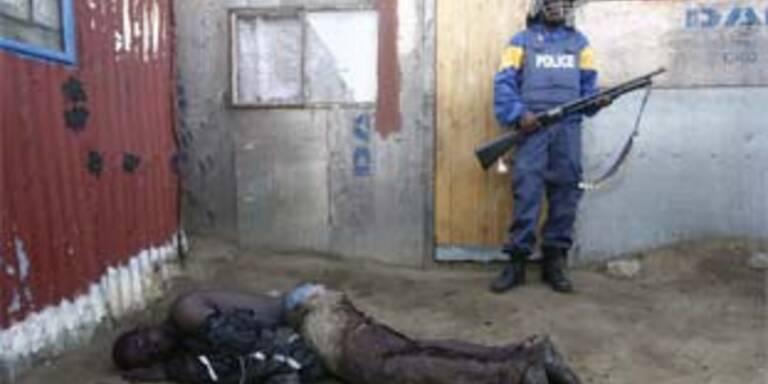 Schreckliche Bilder aus den Unruheregionen Südafrikas