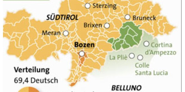 Ladinische Gemeinden wollen nach Südtirol