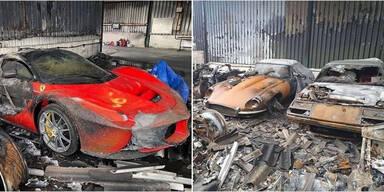 Feuer vernichtet 80 Supersportwagen und Oldtimer