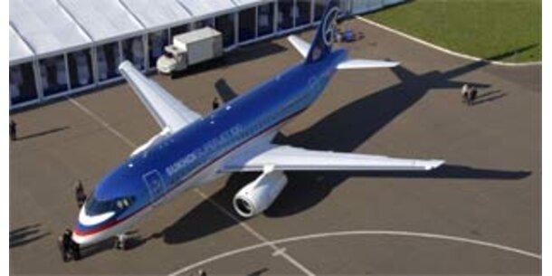 Russischer Superjet auf Jungfernflug