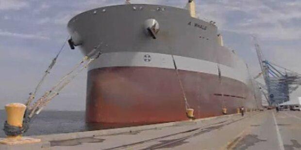 Offiziere des Supertankers in Gibraltar auf freiem Fuß